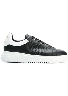 Armani embossed logo sneakers
