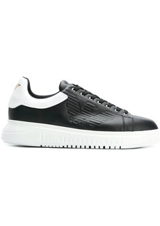 Armani embossed logo sneakers