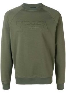 Armani embossed logo sweatshirt