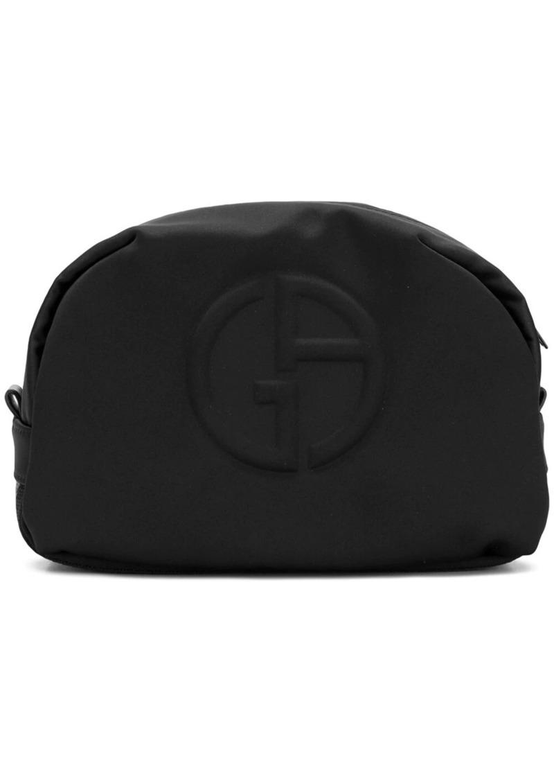 Armani embossed logo wash bag