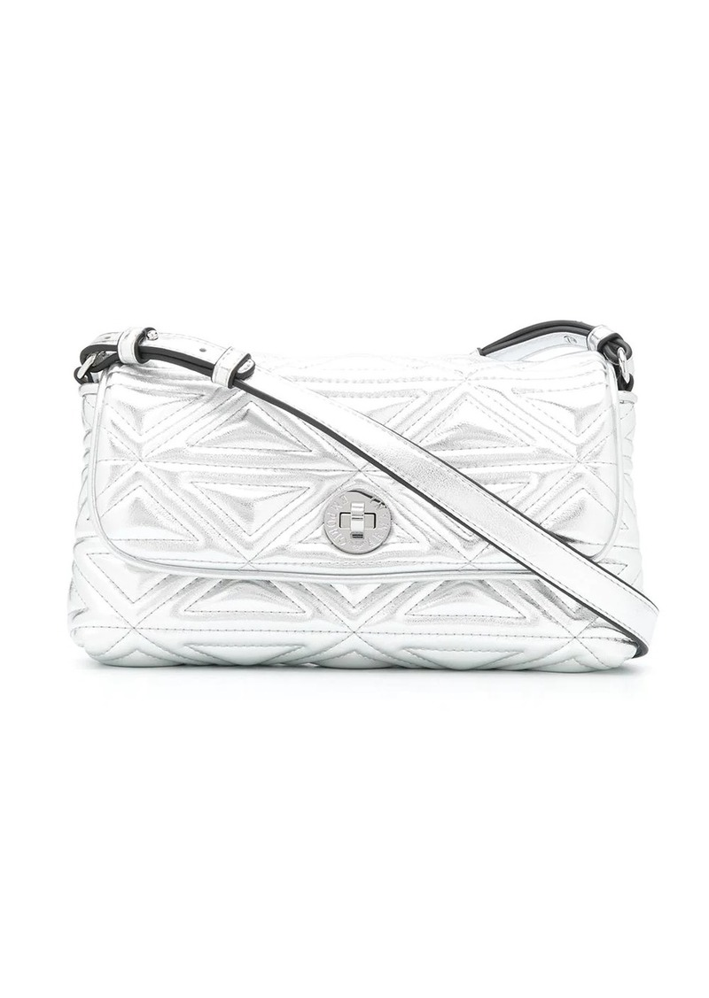 Armani embossed metallic crossbody bag