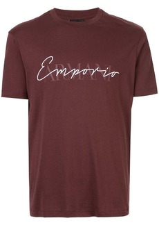 Armani embroidered and printed logo T-shirt