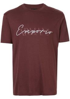 Armani embroidered and printed logo T-shirt