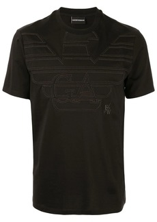 Armani embroidered eagle logo T-shirt
