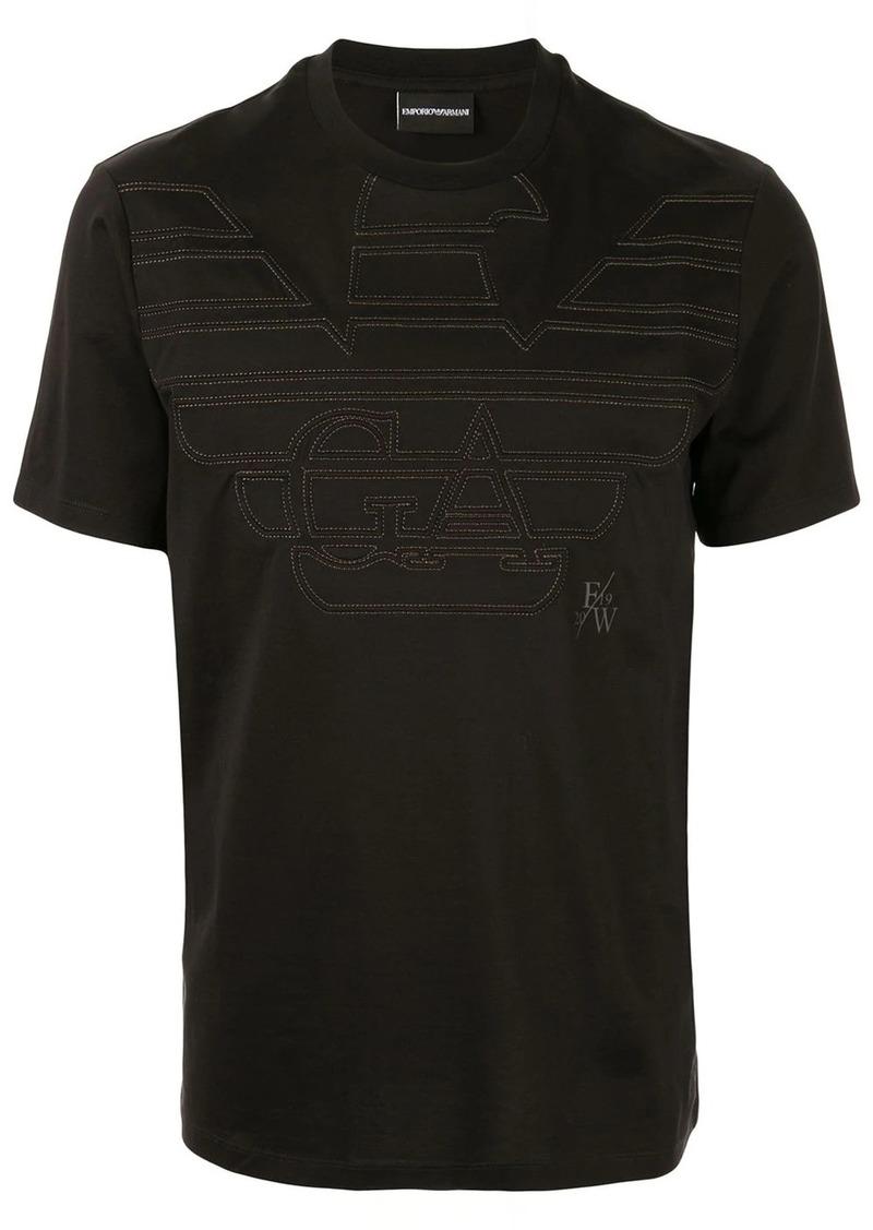 Armani embroidered eagle logo T-shirt