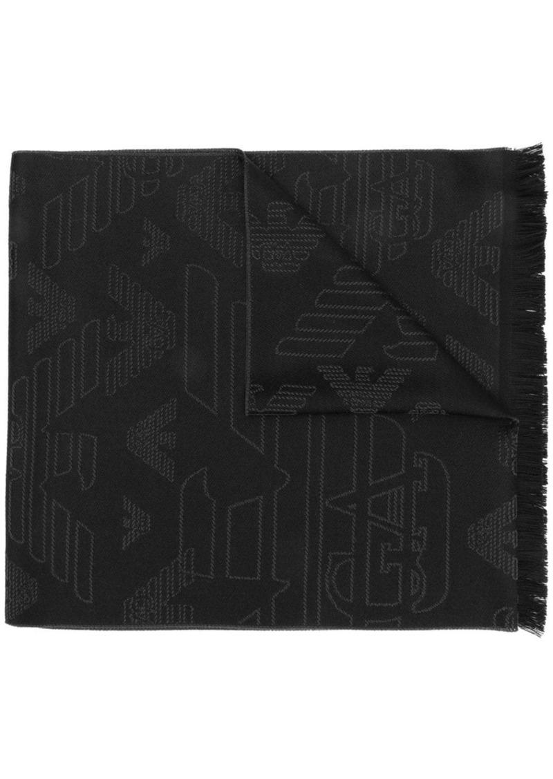 Armani embroidered eagle scarf