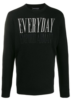 Armani embroidered 'Everyday' jumper