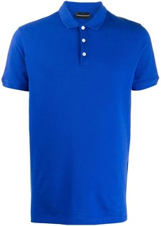Armani embroidered logo polo shirt