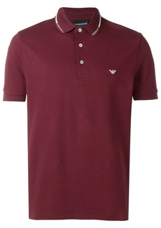 Armani embroidered logo polo T-shirt