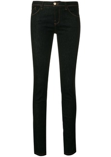 Armani embroidered logo skinny jeans