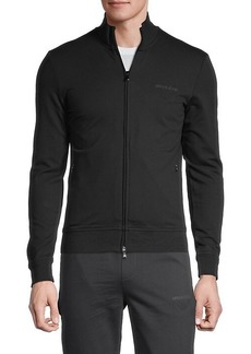 Armani Embroidered-Logo Stretch-Cotton Sweatshirt