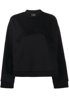 Armani embroidered logo sweatshirt