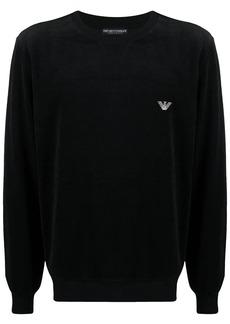 Armani embroidered logo sweatshirt and pants set