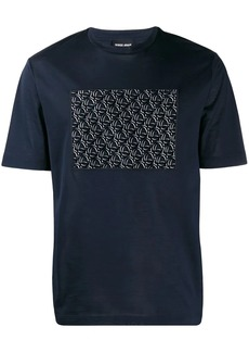 Armani embroidered logo T-shirt