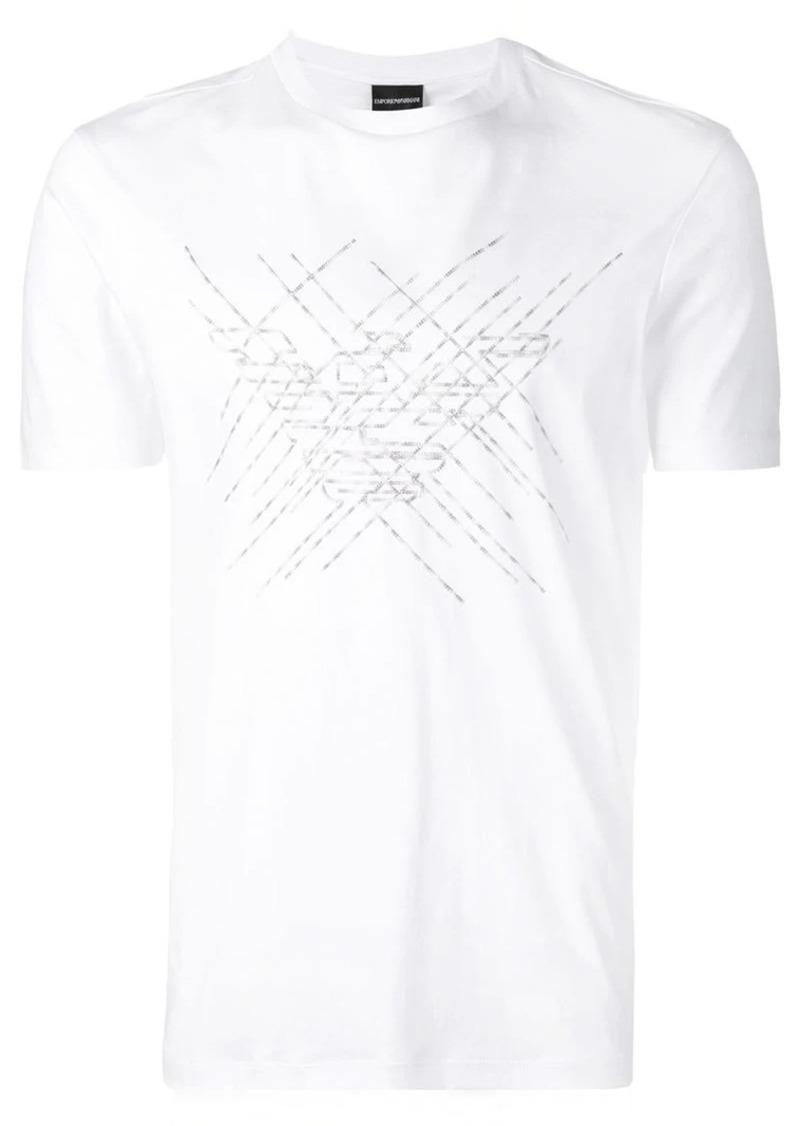 Armani embroidered logo T-shirt