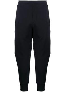 Armani embroidered-logo track pants