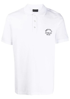 Armani embroidered polo shirt
