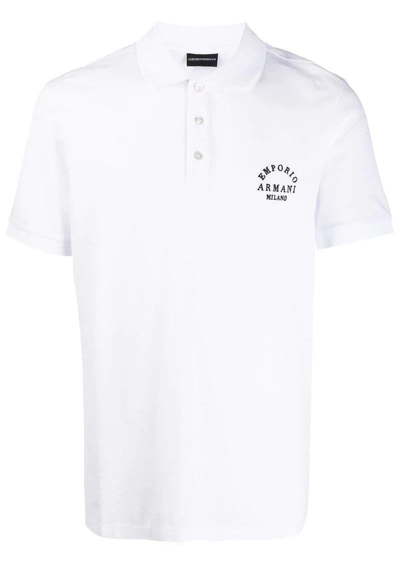 Armani embroidered polo shirt