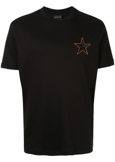 Armani embroidered star T-shirt