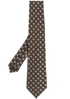 Armani embroidered tie