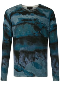 Armani paint effect jumper