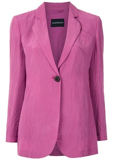 Armani crinkled single-breasted blazer