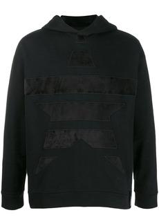 Armani star embroidered hoodie