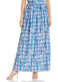 Emporio Armani Abstract Print Maxi Skirt