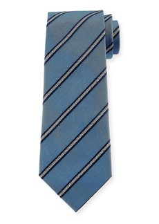 Armani Arrow Striped Silk Tie