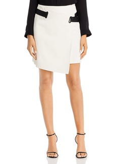 Emporio Armani Asymmetric Belted Mini Skirt