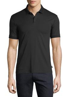 Emporio Armani Basic Textured Polo Shirt