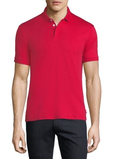 Armani Basic Textured Polo Shirt