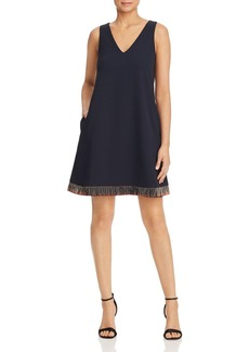Emporio Armani Beaded-Hem Shift Dress