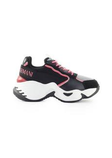 Emporio Armani Black Grey Pink Chunky Sneaker