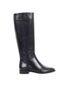 Emporio Armani Black Leather High Boot