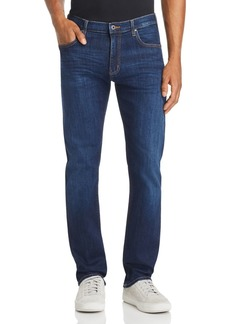 Emporio Armani Blue Five-Pocket Straight-Leg Jeans in Medium Wash