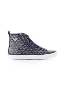 Emporio Armani Blue Grey High Sneaker