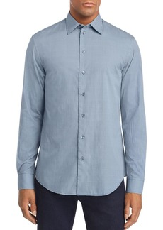 Emporio Armani Blue Multi-Check Sport Shirt