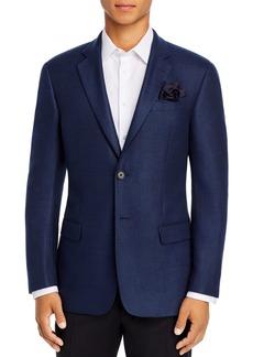 Emporio Armani Blue Stitched Regular Fit Blazer