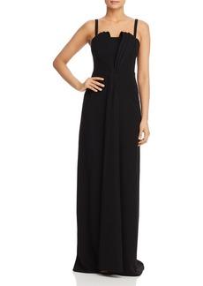 Emporio Armani Bodice Pleat-Detail Gown