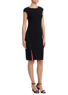Armani Cap-Sleeve Sheath Dress