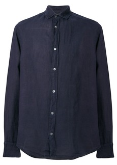 Emporio Armani casual curved hem shirt - Blue