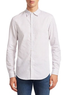 Armani Check Button-Down Shirt