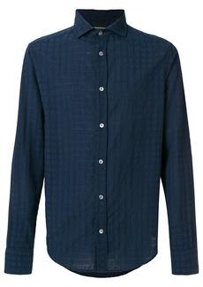 Emporio Armani check slim fit shirt - Blue