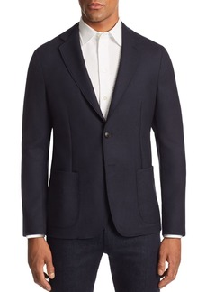 Emporio Armani Check-Textured Regular Fit Soft Wool Jacket
