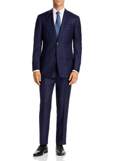 Emporio Armani Checked Virgin Wool Regular Fit Suit