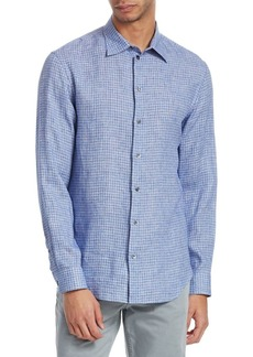 Armani Checkered-Print Button-Down Shirt