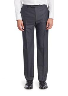 Armani Chevron Flat Front Trousers