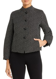 Emporio Armani Chevron Mock Neck Jacket