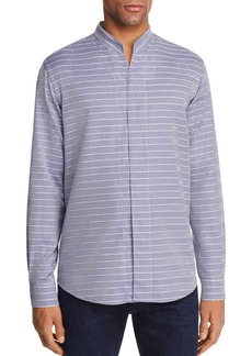Emporio Armani Chevron Striped Regular Fit Button-Down Shirt